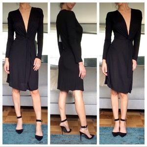 IRO Teiva Twist Knot Front Little Black Dress